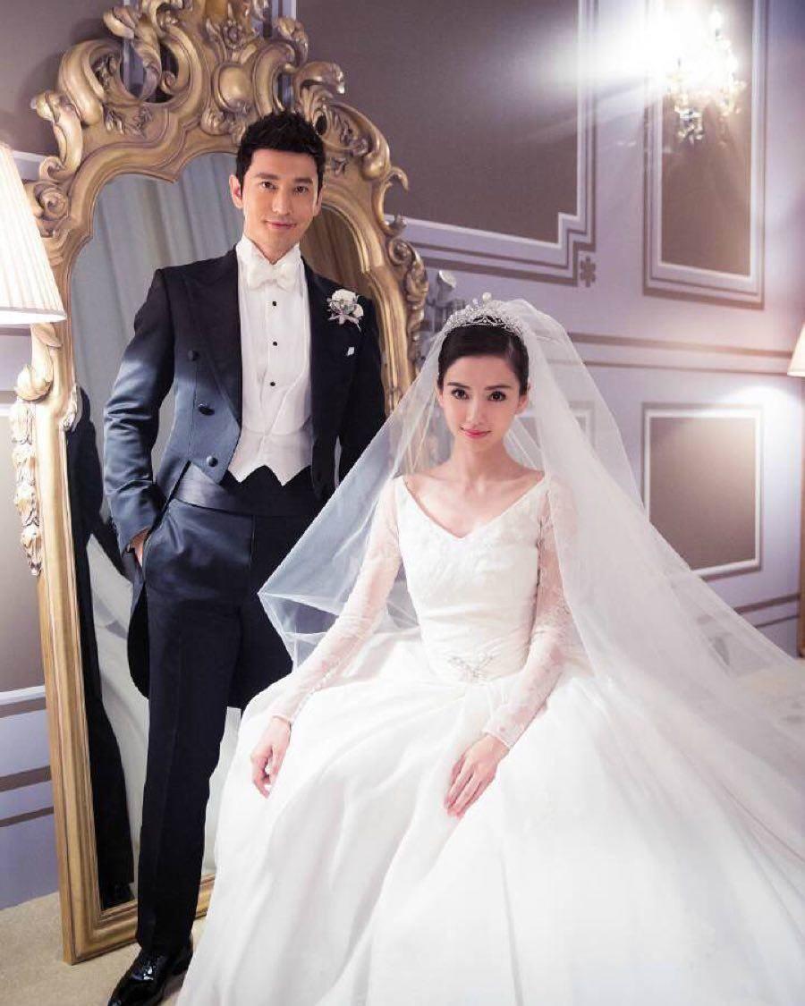 Angelababy也在婚禮上選穿DIOR白紗。(翻攝自Angelababy IG)