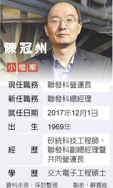 聯發科總經理 謝清江下 陳冠州上