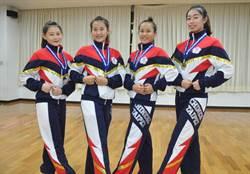 中州啦啦隊成員入選中華代表隊 勇奪亞錦賽彩球組銀牌