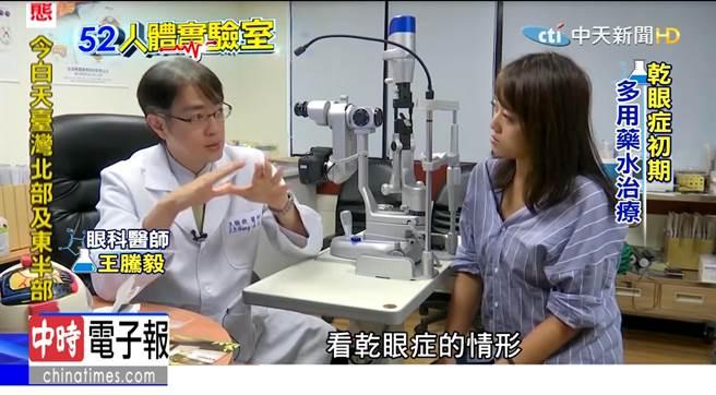 《人體實驗室》全台600萬人受乾眼症困擾,淚管栓塞術可幫助眼睛保水。(圖/中天)