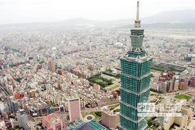 台北盆地底下的山腳斷層,對人口密集的大台北都會來說是個潛在威脅。圖為台北101大樓附近的俯瞰圖。(本報系資料照片)