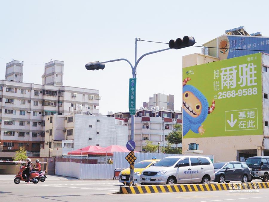 坤悅開發於大雅區再推坤悅「爾雅」新案,基地位於中清路3段近中山路口,地段優越,銷售紅不讓。