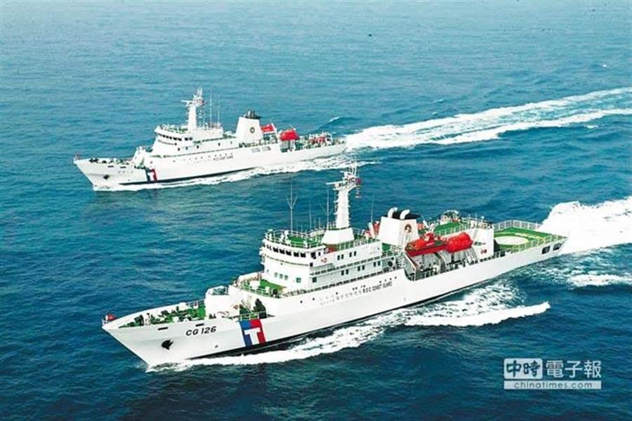 幻象戰機在彭佳嶼附近海面失聯,海巡署三艘艦艇馳往搜救。(本報系資料照,非救援艦艇)