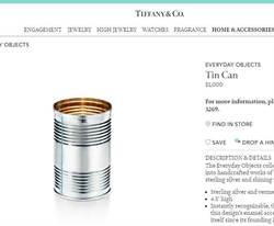 一千元奶粉錫罐 蒂芬妮新商品被網民笑到美叮每噹
