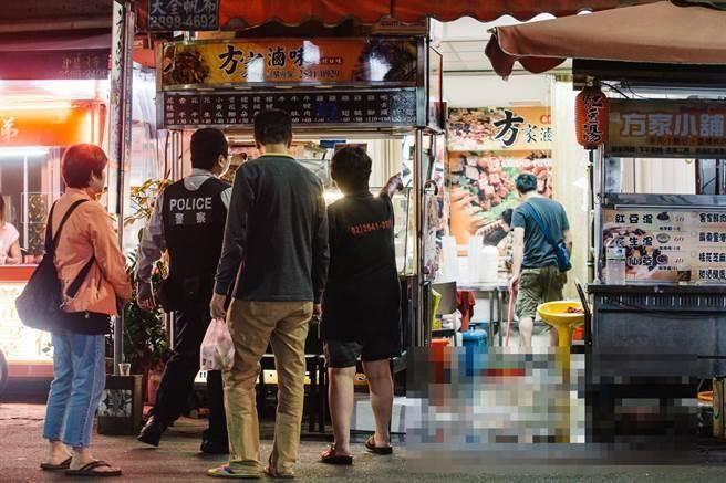 台北市中山區錦州街8日凌晨發生一起槍擊案。(郭吉銓攝)