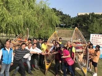 中市五權國中師生手作獨木舟 多元學習有特色