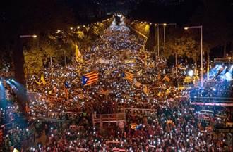 巴塞隆納75萬人上街 要求釋放分離運動領袖