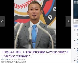 好慘的主炮...中田翔留火腿遭減薪8000萬日圓