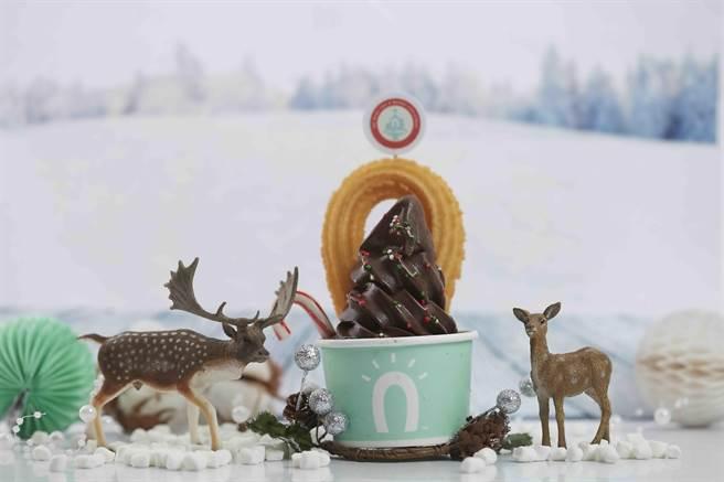 「聖誕阿啾 」造型可愛很吸睛。(圖/Street Churros)