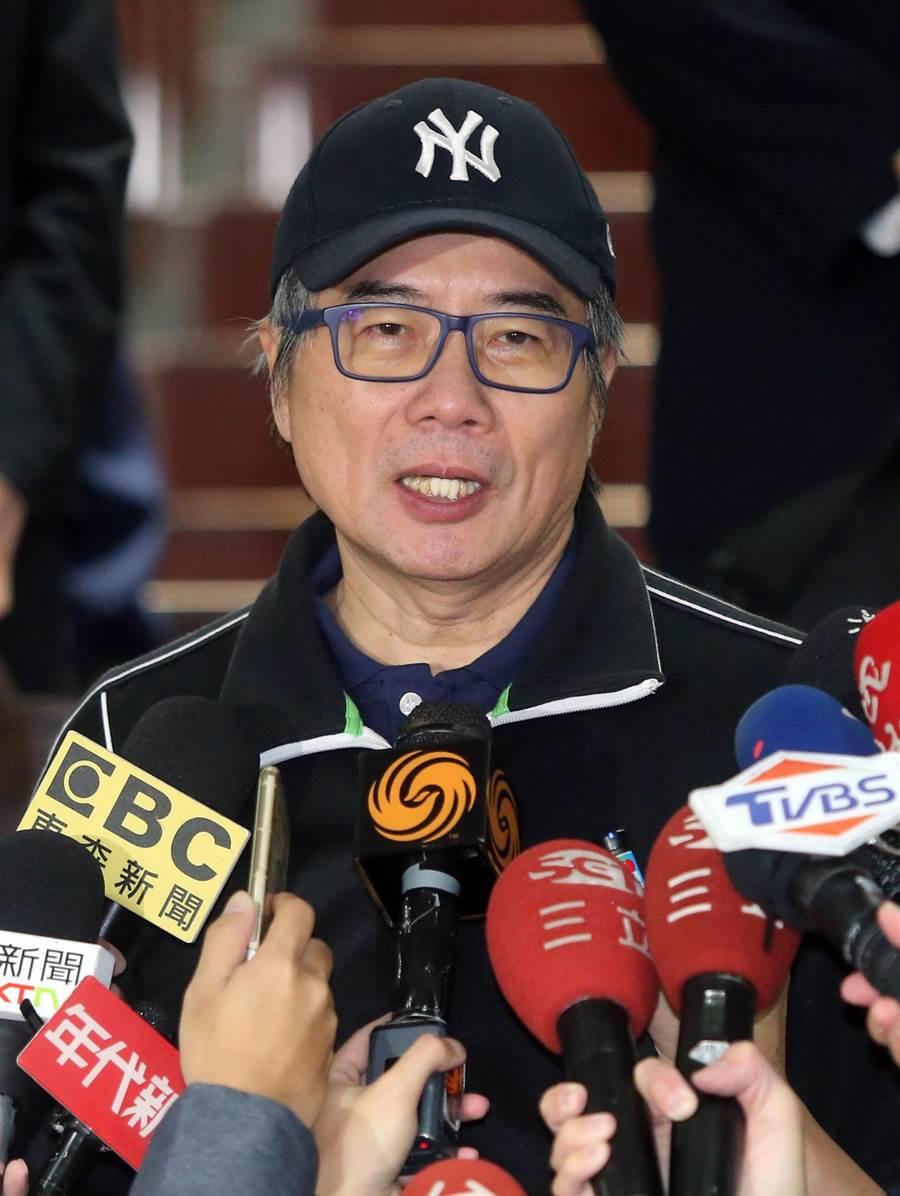 蔡正元接受媒體訪問。(趙雙傑攝)
