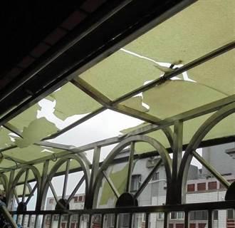 南港小模命案大樓 女11樓墜落卡8樓遮雨棚僅輕傷