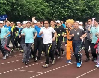 警大運動會 內政部長葉俊榮帶領師生跑800公尺