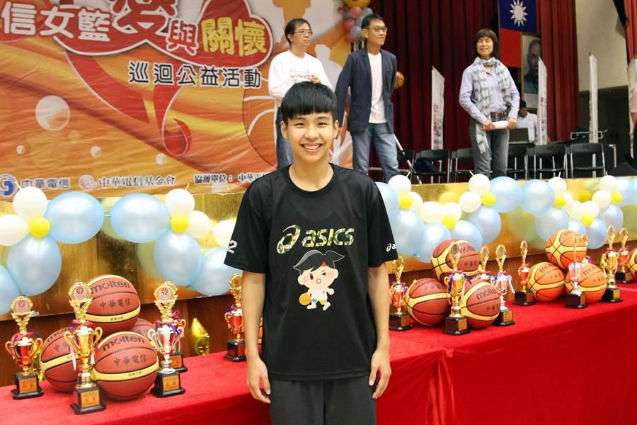 黃湘婷也對運動精英獎很期待。(林宋以情攝)