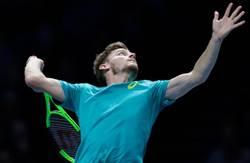 ATP年終賽爆冷門 高芬擊敗費德勒挺進決賽