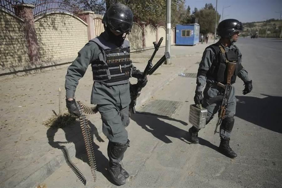 阿富汗安全部隊人員。(圖/美聯社)