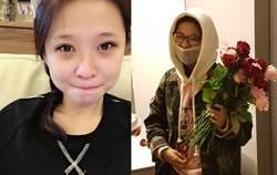 李燕聽到經紀人哭了急奔電視台 邋遢素顏跟「生日快樂」一起直播了!