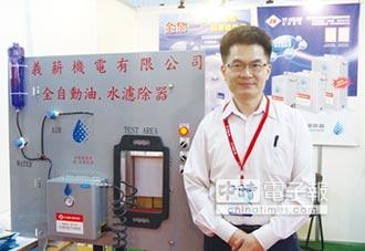 空壓機專用 義薪推全自動空氣油水濾除器