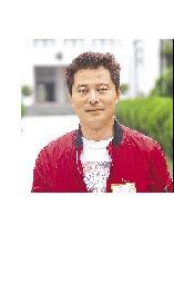 吳亞明採訪立法院時留影。(吳亞明提供)