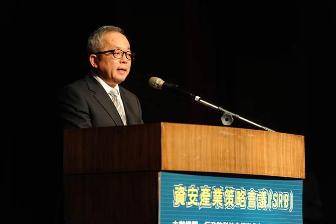 行政院副院長施俊吉21日出席「2017資安產業策略 (SRB) 會議」開幕式。(行政院提供)