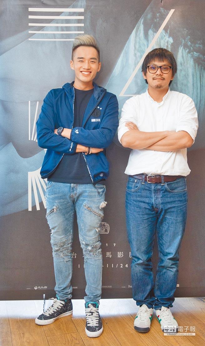 陳澤耀(左)與導演陳勝吉拍片前期曾有摩擦,花了一陣子磨合。