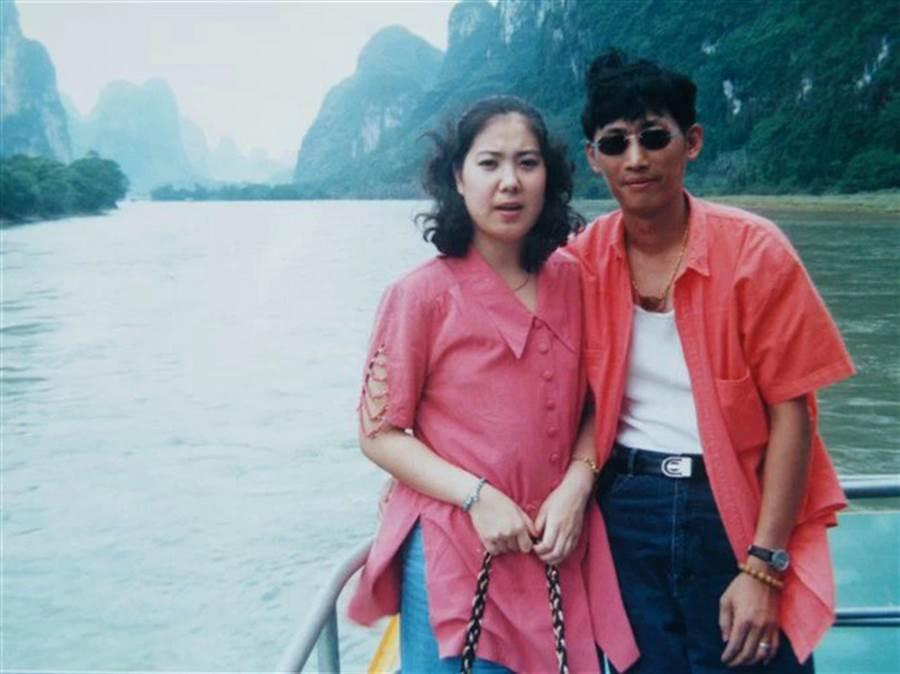 兩岸交流30年以來,高達數十萬的中國大陸女性遠嫁台灣,來自陝西省西安市的余蓉蓉(圖)是其中一人。圖為兩人初見識時。(余蓉蓉提供)中央社  106年11月21日
