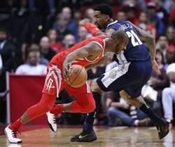 NBA》周琦三分球開張 火箭痛宰金塊30分