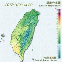 台灣變成綠蕃薯?明天還會更冷