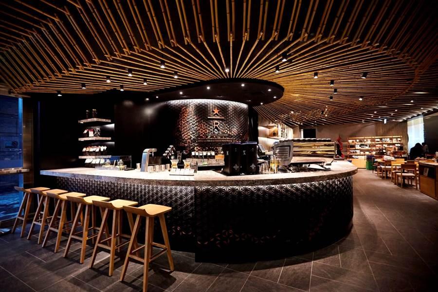 全新星巴克摩登典藏吧台門市室內約42坪寬廣空間,可容納46席次。(圖片提供/星巴克)