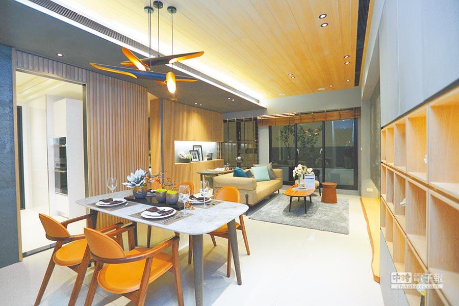 遠雄在內湖5期重劃區推出的新建案「遠雄賦邑」,其樣品屋的內部陳設。(本報資料照片)