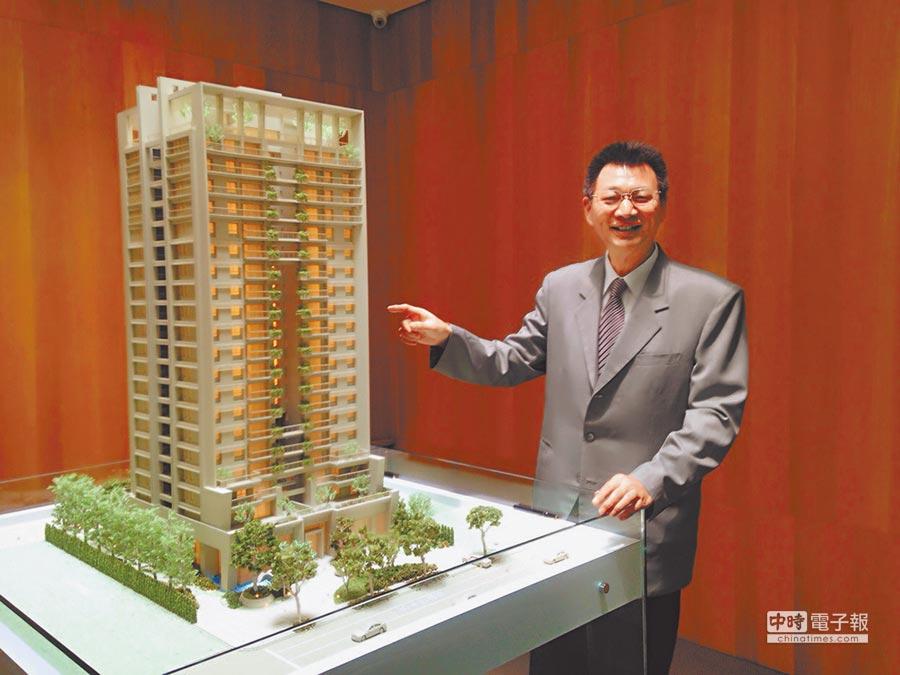 華太建設總經理彭國郎認為,美術館藝文特區優質環境,自然吸引自住客入住。圖/黃繡鳳