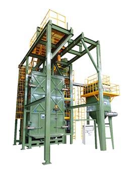 大鎪 研發大型單軌吊車式自動噴砂機