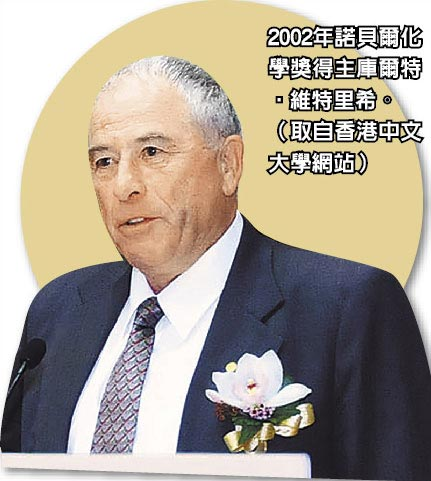 2002年諾貝爾化學獎得主庫爾特‧維特里希。(取自香港中文大學網站)
