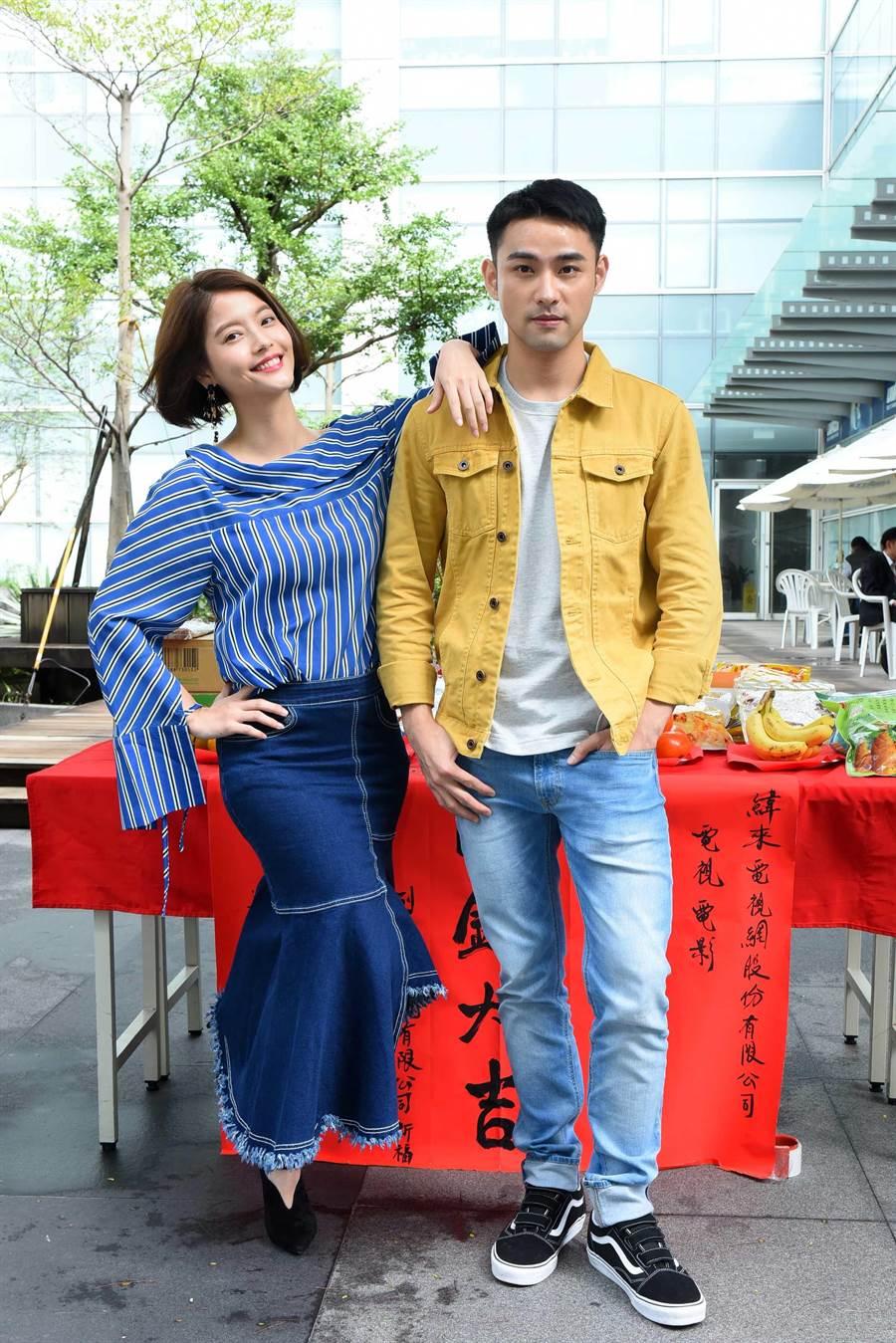 王樂妍、潘柏希出席新戲開鏡。(緯來)
