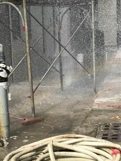 高市工地挖斷瓦斯管線  警消緊急噴水稀釋