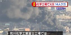 日本靜岡富士市的化學工廠大爆炸  14人受傷、電車被迫停駛