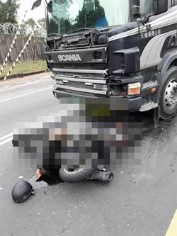 中市26 歲女輢士擦撞砂石車 遭輾爆頭身亡