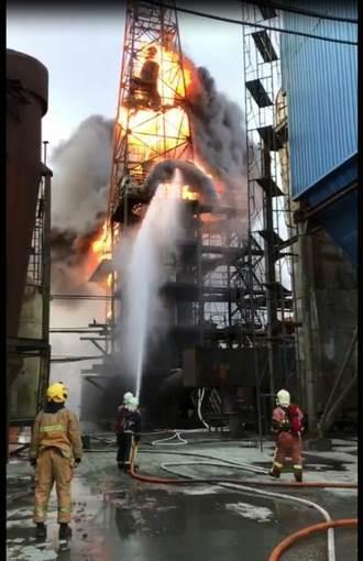 彰濱工業區再傳火警 金屬提煉廠大火