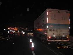 國道4車連環撞 一對男女受傷