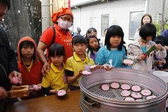 大里農會食農教育 學童學做紅龜粿