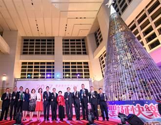台北101點燈 點亮13公尺環保LED耶誕樹