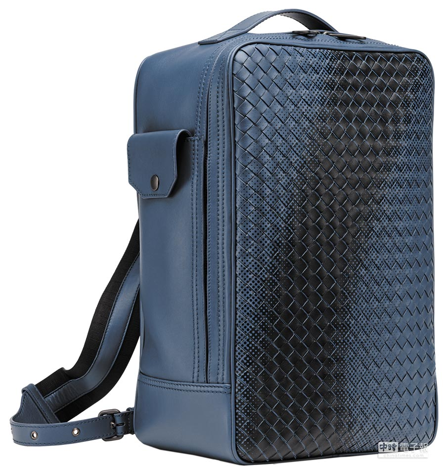 Bottega Veneta GALAXY編織小羊皮後背包,9萬2700元。(BV提供)