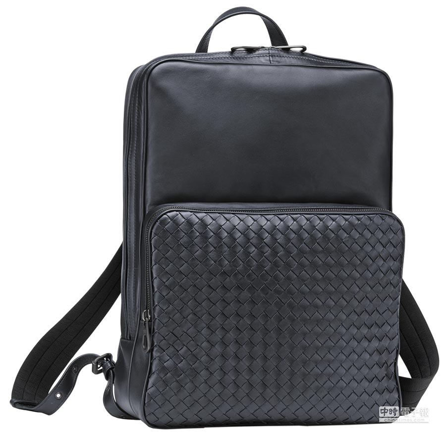 Bottega Veneta局部編織小羊皮後背包,8萬8600元。(BV提供)