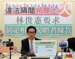 違法隔間頻釀火警 林俊憲籲設租屋「吹哨者條款」