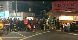 芝山6旬翁駕車衝入小吃店 6人受傷送醫