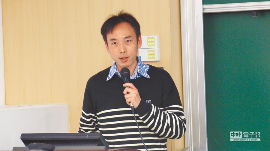 台大政治系副教授唐欣偉。(記者潘維庭攝)