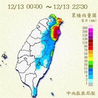 宜蘭大豪雨  南澳雨量已達399毫米