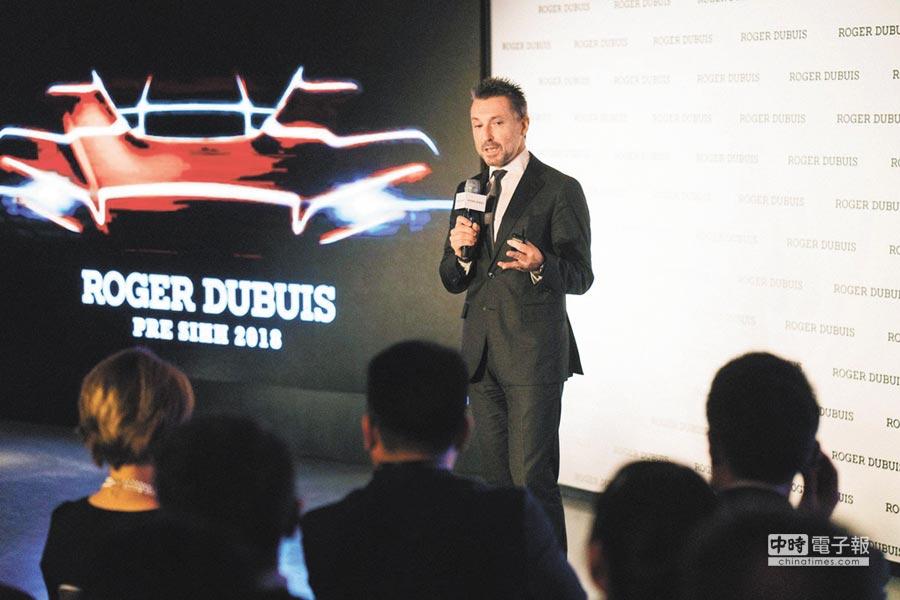 Roger Dubuis執行長Jean-Marc Pontroue是跑車玩家,著手促成與藍寶堅尼聯名結盟。(Roger Dubuis提供)