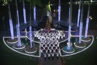 溫馨耶誕活動多 新民、東海校園如燈海