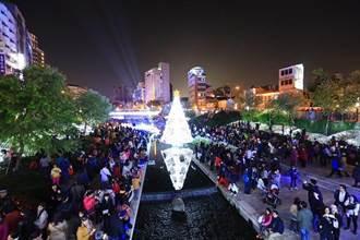 台中全國首座水中耶誕樹亮相 林市長:讓舊城區再度綻放光芒