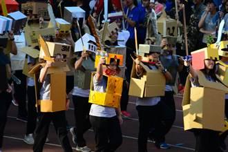 台南女中百年校慶  學生粉墨登場盛裝遊行